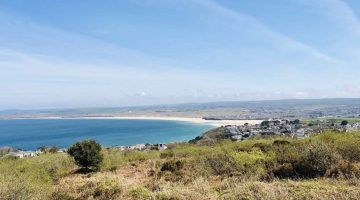How significant is the influence of St Ives to the local property market?